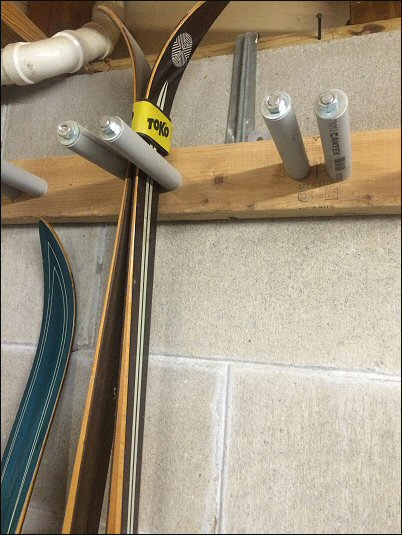 Skis Can Be Stored On A Rack Or Tied Together Leaning Against A Wall. If  You Store Them In A Garage, Make Sure That You Keep The Tails Off Of The  Concrete ...
